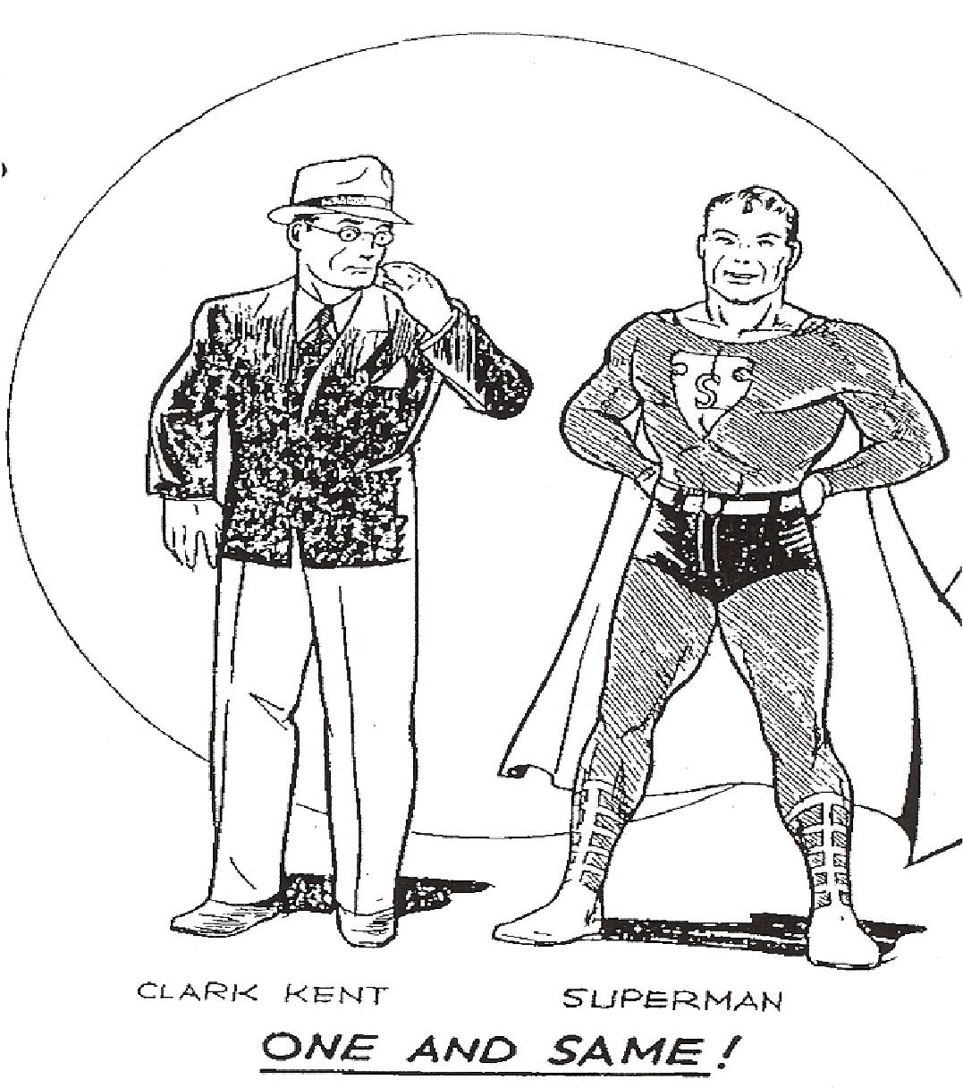 Some of the earliest Superman artwork...
