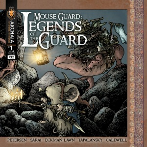 Mouse Guard: Legends of the Guard Vol. 2 #1  (w/a) David Peterson, Stan Sakai, Alex Eckman-Lawn, Nick Tapalansky, Ben Caldwell Archaia Entertainment, 32 pages.