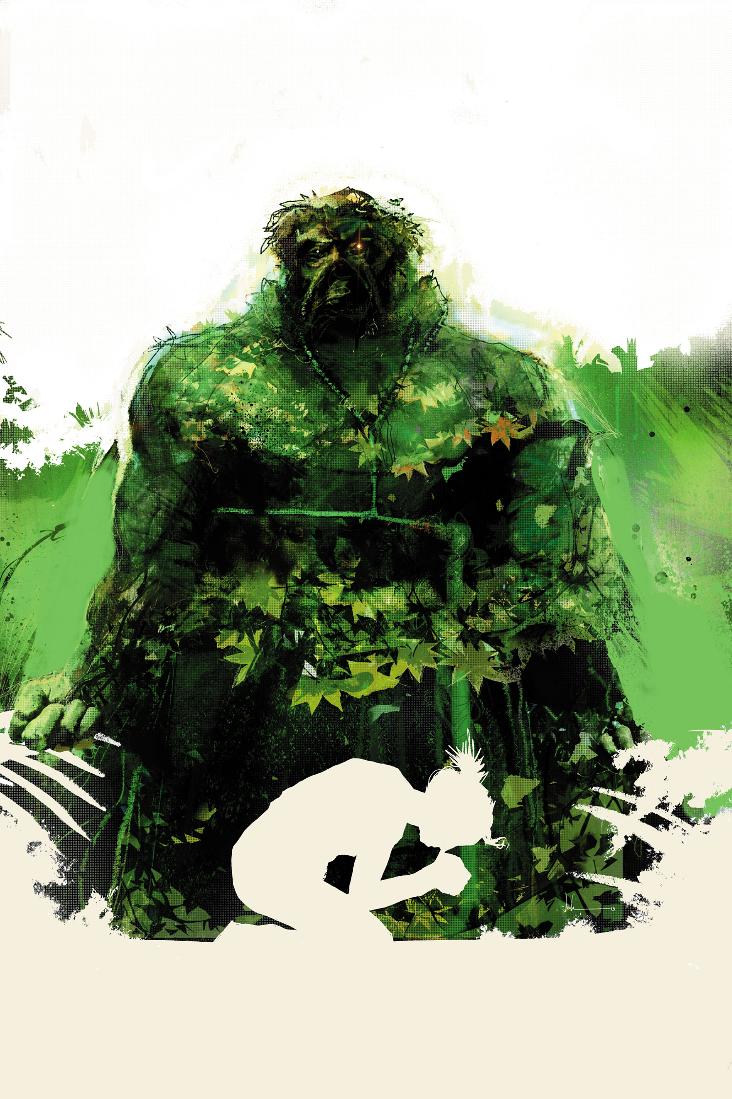 Swamp Thing #21 Cover Art by Jock
