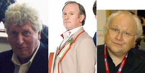 These are Doctors 4, 5, and 6 if you're wondering. Yes, that is Tom Baker.