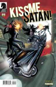 Kiss Me, Satan #1 (w) Victor Gischler (a) Juan Ferreyra (c) Eduardo Ferreyra (l) Nate Piekos, Dark Horse Comics, $3.99