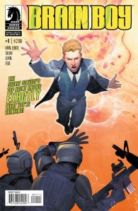 Brain Boy #1 (w) Fred Van Lente, (a) R.B. Silva, (i) Rob Lean, (c) Ego, (L) Nate Piekos of Blambot; Dark Horse Comics, $2.99
