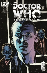 Doctor Who: Prisoners of Time #9 (w) Scott and David Tipton (a) David Messina (I) Giorgia Sposito (c) Scarlet Gothica (l) Tom B. Long, IDW Publishing, $3.99