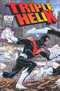 Triple Helix #1 (w/a) John Byrne (c) Leonard O'Grady (l) Robbie Robbins, $3.99, IDW Publishing