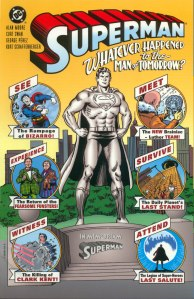 Superman - Whatever Happened To The Man of Tomorrow Cover