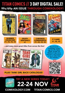 TITAN COMICS 3-DAY DIGITAL SALE