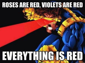 Cyclops sees red