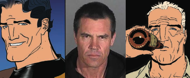 (From Left to Right - Young Duke McQueen, Josh Brolin, Old Duke McQueen)